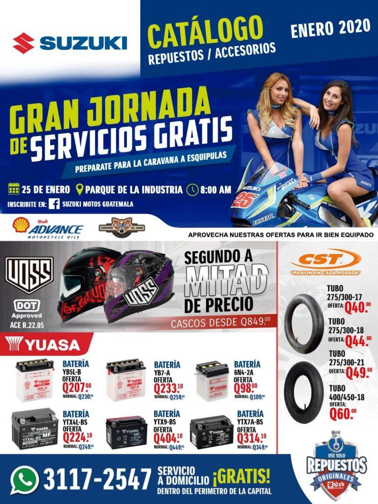 Servicio gratis para motos